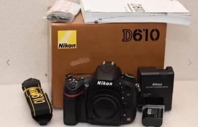 Nikon D610 24mp fx Camera Body