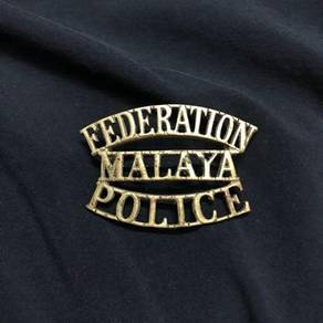Federation MALAYA Police Batch