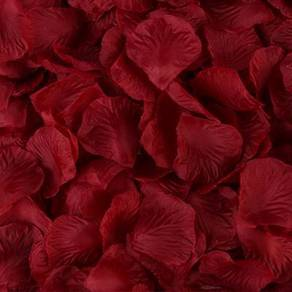 100pcs Rose Petals Flower Wedding Decoration Red