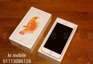 Iphone -6- 16gb rom warna gold fullset