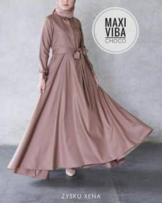 Viba maxi dress nude pink yellow red blue