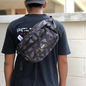 Palace bun bag grey & purple waist pouchbag