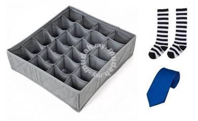 30 Slots Bamboo Charcoal Sotrage Organizer Box