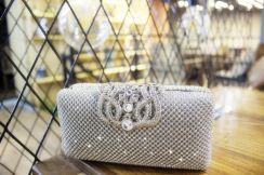 Diamond dinner prom clutch handbag slingbag bag