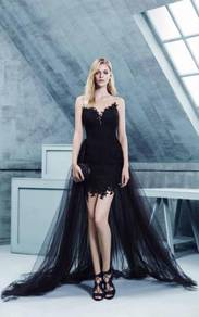 Black dinner prom dress wedding gown RBP0574