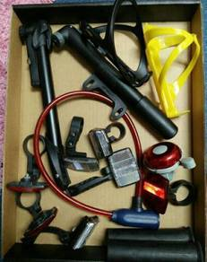 Assorted bicycle accessories