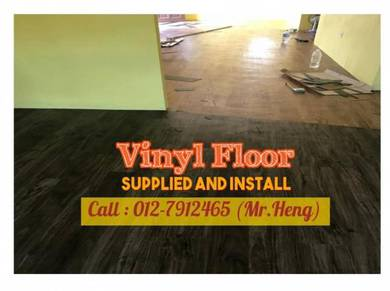 Natural Wood PVC Vinyl Floor - With Install 27DF