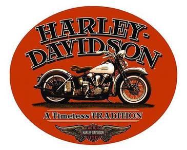 Poster harley davidson logo vintage