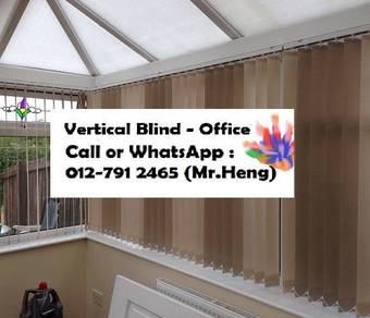 New Office Vertical Blind- with install 21AS