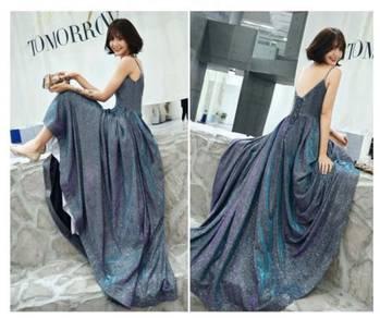 Glitter fishtail prom wedding gown dress RBP0947