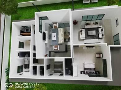 Rumah Bungalow 1.5 Tingkat bawah 600K