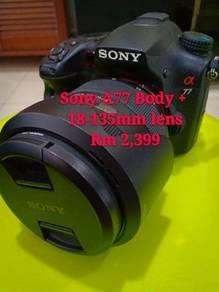 Sony A77 dan Acc