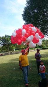 LOVE balloon with gas helium