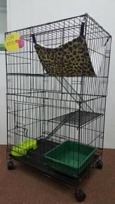 Sangkar kucing \ Cat cage (2 tingkat)