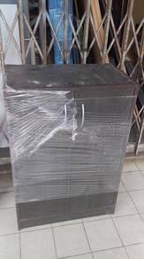 2 Door Black Shoe Cabinet TK603