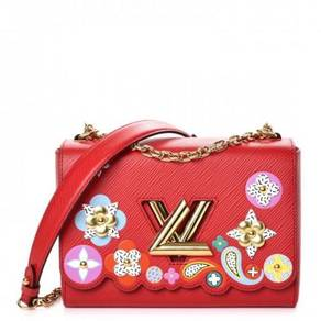 LOUIS VUITTON Epi Bloom Twist MM Coquelicot