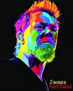 James hetfield pop art poster