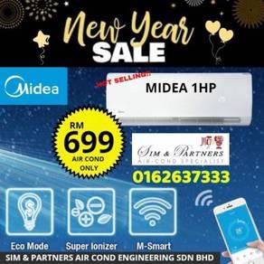 Aircond Midea 1hp 1.5hp 2hp *Cny Promo 699
