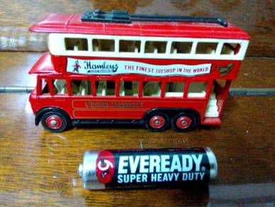 Vintage England Lledo Double Decker Bus Hamleys