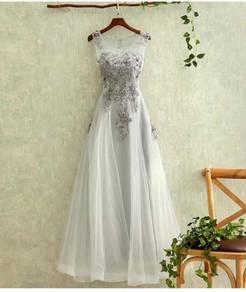 Grey prom wedding gown dress bridal RB0140