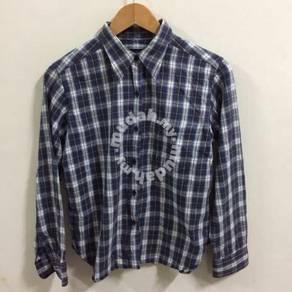 Agnes b size 2 Plaids shirt button