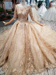Gold wedding bridal dress gown RB1851