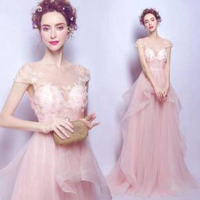 Pink wedding bridal prom dress gown RB0394