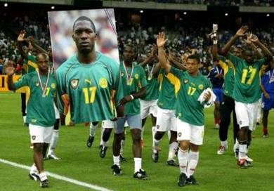 JERSEY CAMEROON Confederations Cup 2003 FOE 17