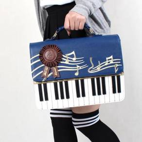 Black blue red handbag piano slingbag bag HB205