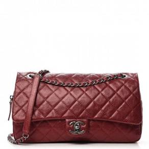 CHANEL Iridescent Caviar Quilted Large Chic Flap