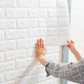 (Ready Stock KL) DIY 3D Foam Wallpaper Brick