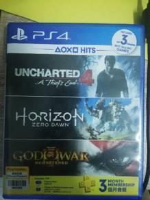 PS4 Uncharted 4 & Horizon Zero Dawn (Pre-used)