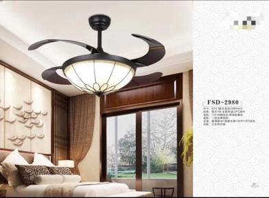 42 inch hidden blade ceiling fan invisible pandant