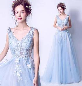 Blue butterfly wedding evening prom gown RBP1331