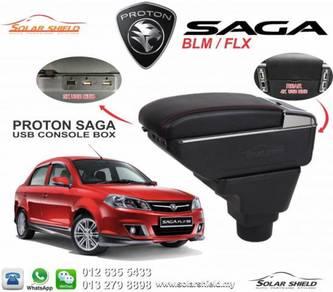 Proton Saga FLX BLM USB Armrest Console Box