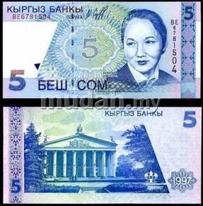 Kyrgyzstan 5 som 1997 p 13 unc