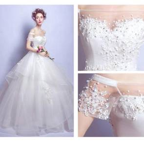 White fairy wedding bridal prom dress gown RB0391