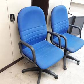 Blue Mid High Back Roller Office Chair TF952