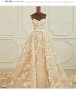 Cream wedding prom evening dress gown RB0476