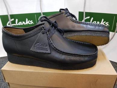 Mens CLARKS ORIGINAL Wallabee Black Leather