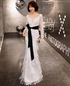 Silver wedding evening prom dress gown RBP1328
