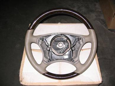 Mercedes W220 S Class Leather and Wood Steering