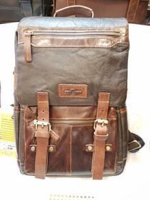 Backpack bag original kulit lembu