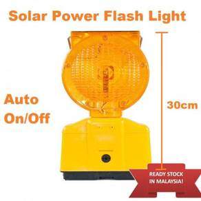 Solar power road amber led strobe beacon safety
