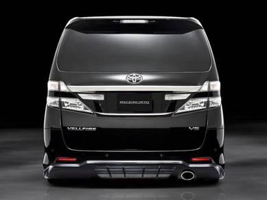 Toyota vellfire chrome rear license plate garnish