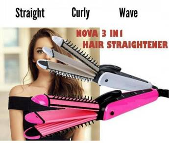 Nova 3 in 1 Hair Curly Wave Straightener (13A)