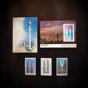 Setem Menara Berkembar Petronas & Kuala Lumpur