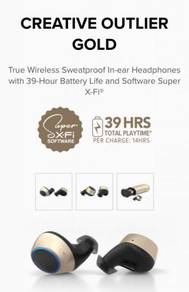 BRAND NEW CREATIVE OUTLIER GOLD Wireless Earphones
