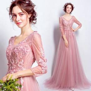 Pink wedding bridal prom dress ball gown RB0397