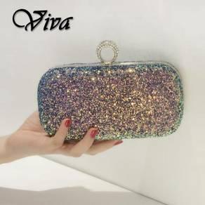 Glitter dinner prom clutch handbag slingbag